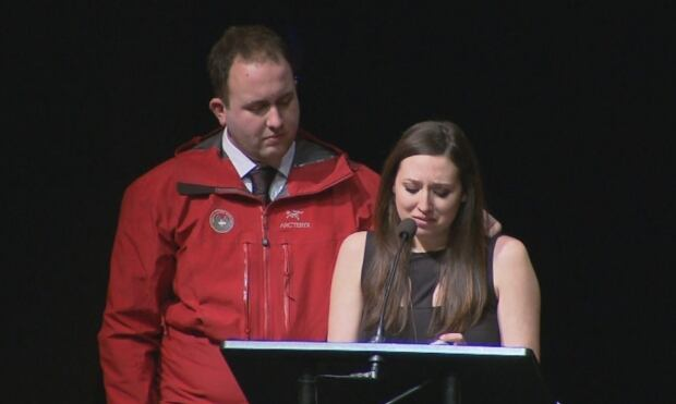 Tim Jones memorial service - Curtis and Taylor Jones
