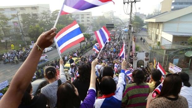 Many polling stations in Bangkok and southern Thailand had to be closed due to protests.