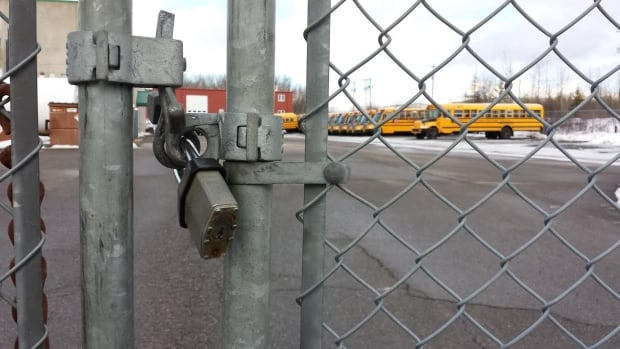 Chignecto-area school buses will stay locked up Monday.