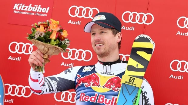 Hannes Reichelt won Saturday's downhill in Kitzbuehel, but it apparently came at a cost.