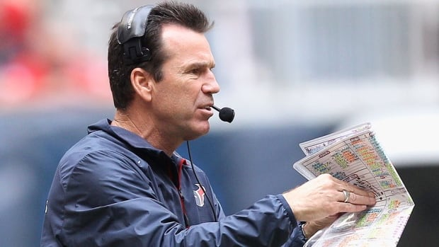 Gary Kubiak, pictured here, replaces Jim Caldwell as the Ravens offensive co-ordinator. He was fired on Dec. 6 of this season after the Texans started 2-11