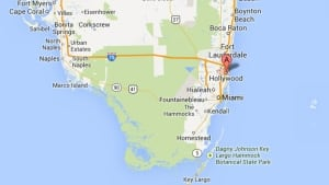 Hollywood, Florida, map