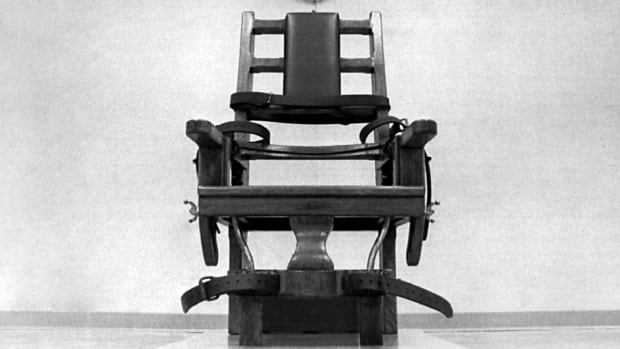 Virginia's electric chair is shown in this 1991 file photo taken in Greensville, Va. A lawmaker from the state wants to make electrocution an option if lethal-injection drugs aren't available.