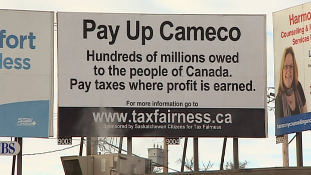 Canadians for Tax Fairness are pressuring Cameco to 'Pay Up' millions of dollars in taxes.