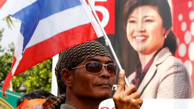 Anti-government protesters have been protesting since November in Thailand against the country's Prime Minister Yingluck Shinawatra.