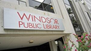 Windsor Public Library entrance