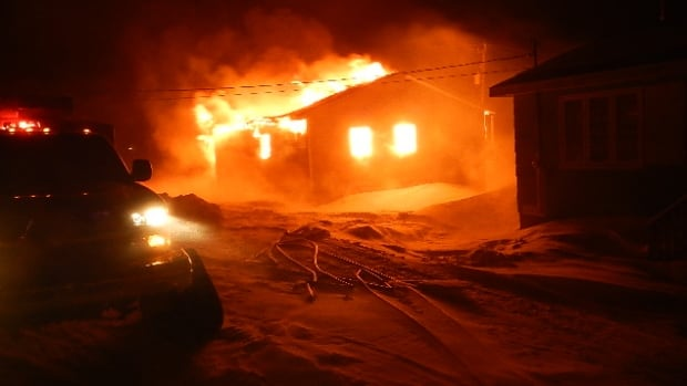 Fire completely levelled a small bungalow on Sandbanks Road in Nain on Wednesday morning.