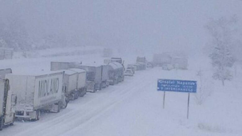 Chemical spill, massive pileup closes Highway 401 near ...