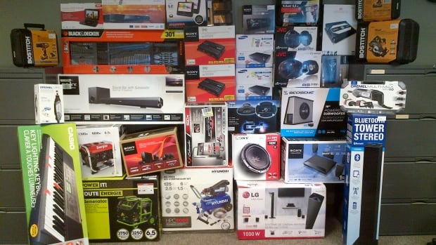 All of these items were stolen from local stores by one man, Hamilton police say.