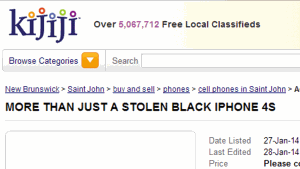 Joanna Vlamakis's stolen iPhone was returned after her friend placed a Kijiji ad