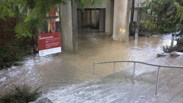 Flood at UBC Museum of Anthropology