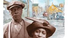 Hogan's Alley Black History Month stamp
