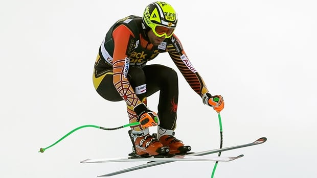 Manuel Osborne-Paradis clocked the fourth-fastest time on the Corviglia course in downhill training at St. Moritz, Switzerland.