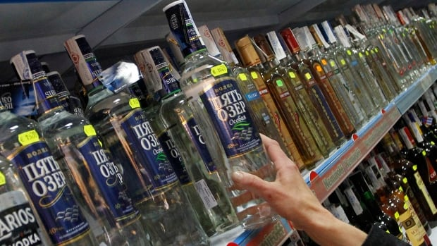 The average Russian adult drinks 20 litres of vodka per year while the average Briton drinks about three litres of spirits.
