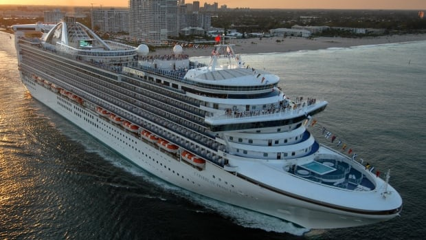 The Caribbean Princess departs on its maiden voyage from Port Everglades in Fort Lauderdale, Fla., in this April 2004 photo. U.S. health officials are investigating after an outbreak of illness led the cruise ship to ends its trip early.