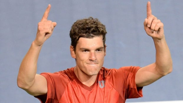 Canada's Frank Dancevic tells everyone where things stand in the Davis Cup World Group tie against Japan. It's tied 1-1 following Dancevic's 6-4, 7-6 (2), 6-1 win over Go Soeda on Friday in Tokyo.