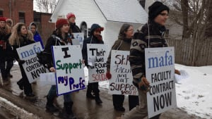 Mount Allison University strike rally of support