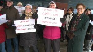 Veteran protestors