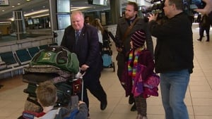 Toronto Mayor Rob Ford with children