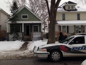 Police on scene at at house on Moy Ave.
