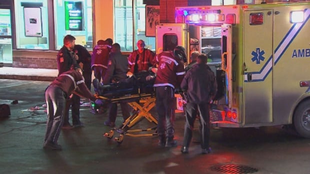 The altercation happened on Roland-Thérrien Boulevard around 1:30 a.m. ET Saturday.
