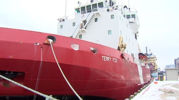 The icebreaker vessel Terry Fox will be heading to St. Lawrence to deal with ice build-up, two weeks ahead of its scheduled refit completion date.