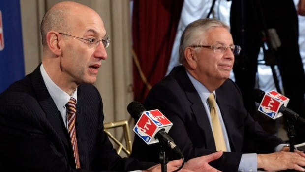 NBA Deputy Commissioner Adam Silver, left, is replacing outgoing NBA Commissioner David Stern after the latter's retirement.