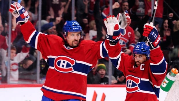 Tomas Plekanec, left, and Brian Gionta were key contributors when Montreal erased a 3-1 deficit to oust Washington in 2010.