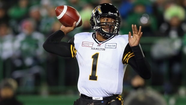 Henry Burris led the Tiger-Cats to last season's Grey Cup, where Hamilton fell 45-23 to the Saskatchewan Roughriders.