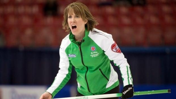 Saskatchewan skip Stefanie Lawton fell 8-7 today to Alberta at the Scotties Tournament of Hearts.