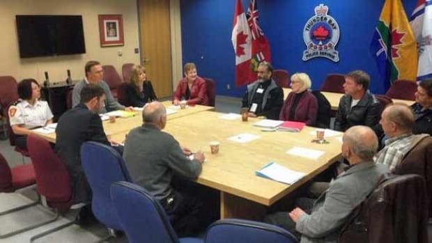 Representatives from Superior Accessible Taxi, Diamond-Lacey and Roach's Taxi took part in a meeting with Thunder Bay Police Services Board members and city officials.