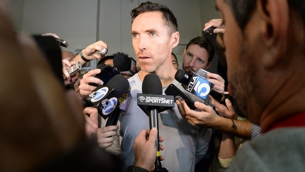 Victoria's Steve Nash, a two-time NBA MVP, hadn't played for the Lakers since Nov. 10, 2013, also against the Timberwolves.