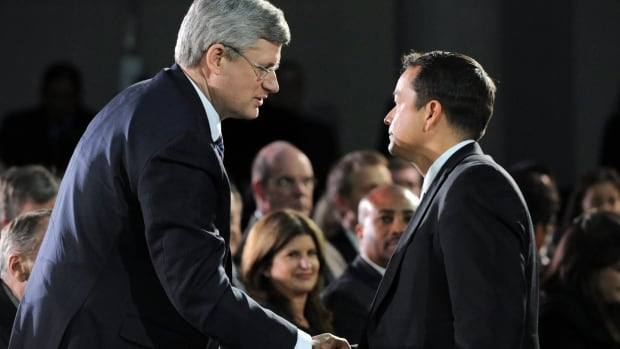Prime Minister Stephen Harper, left, will be joined by Assembly of First Nations National Chief Shawn Atleo Friday in Alberta to announce a deal for sustainable funding of First Nations education.