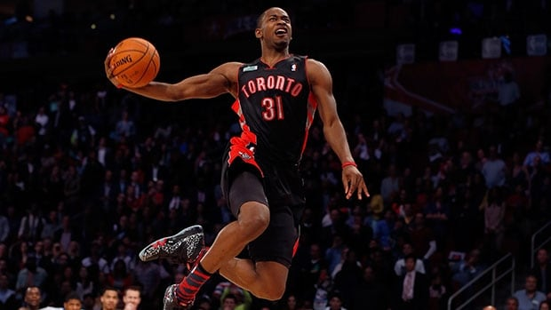 The Raptors' Terrence Ross won last year's slam-dunk contest in Houston.