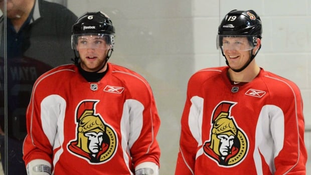 Ottawa Senators' Bobby Ryan, left, and Jason Spezza, arrived in training camp expecting to be linemates, but they never developed chemistry.