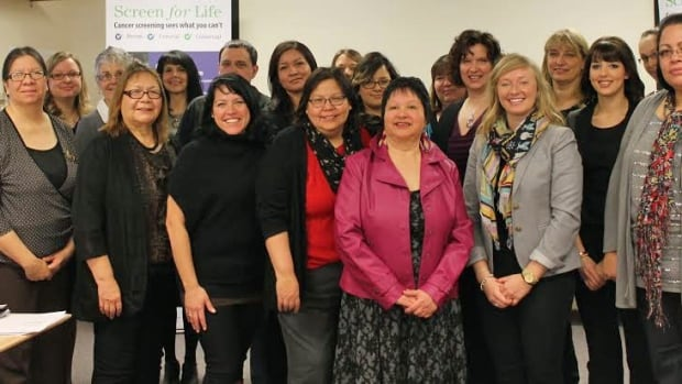 Pictured are partners in the Under/Never Screened Pilot Project in northeastern Ontario. Cancer screening rates have increased in a number of Aboriginal communities in northeastern Ontario, after a collaborative, three-year pilot project between the communities and the Northeast Cancer Centre of Health Sciences North, the Sudbury hospital reports.