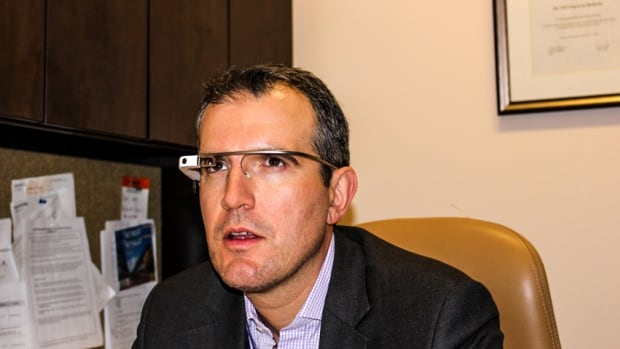Dr. Teodor Grantcharov, a minimally invasive surgeon at St. Michael's Hospital in Toronto, is a major proponent of using Google Glass in the operating room. Here, he can be seen wearing the device.