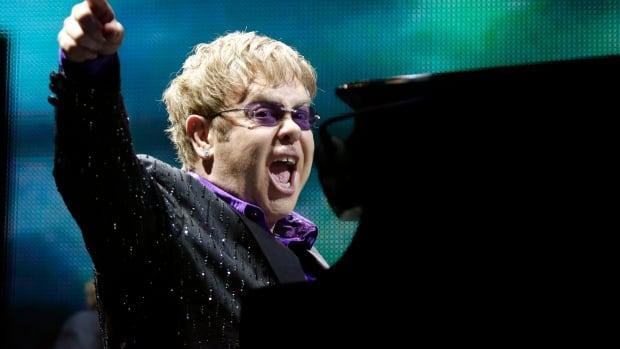Sir Elton John performs at Copps Coliseum on Saturday night.(AP Photo/Efrem Lukatsky, file)