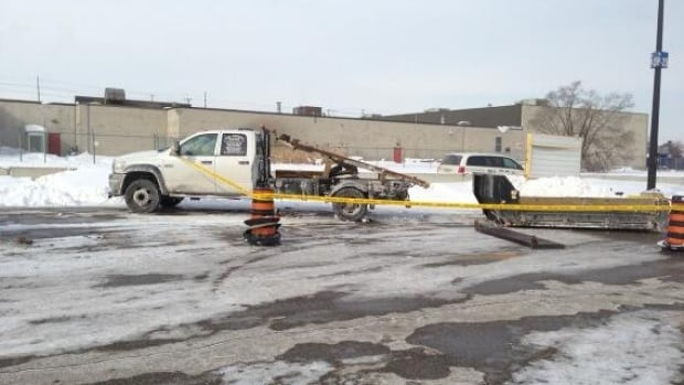 A man is dead following an accident involving a snow removal truck at Pearson International Airport Friday night.