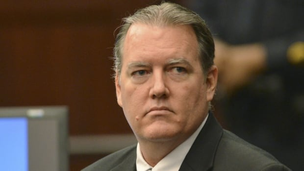 Defendant Michael Dunn at his first-degree murder trial in Jacksonville, Florida.  Dunn, 47, is being tried in state court for the shooting death of Jordan Davis, 17, during a dispute over loud rap music at a Florida gas station in November, 2013.