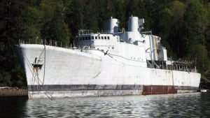 The retired HMCS Annapolis pictured in Howe Sound in 2010