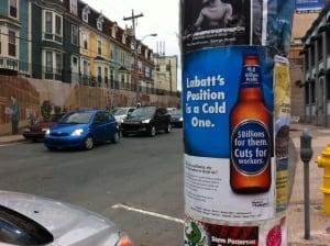 Labatt boycott poster 2013