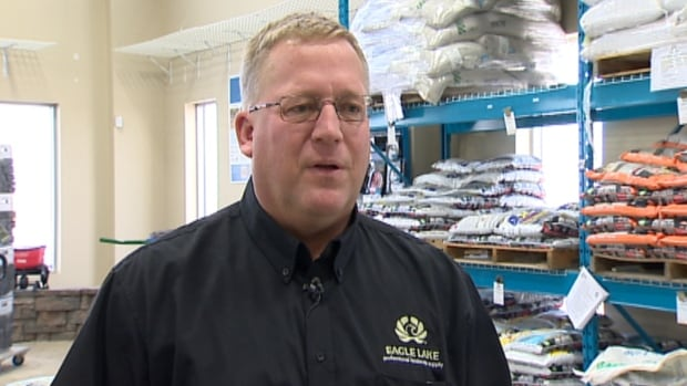 Eric Heuver's company, Eagle Lake Professional Landscape Supply in Calgary, is buying the fertilizer Banff N-Rich, made from the town's recycled organic waste.