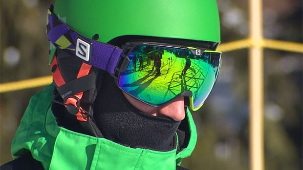 Skier with googles