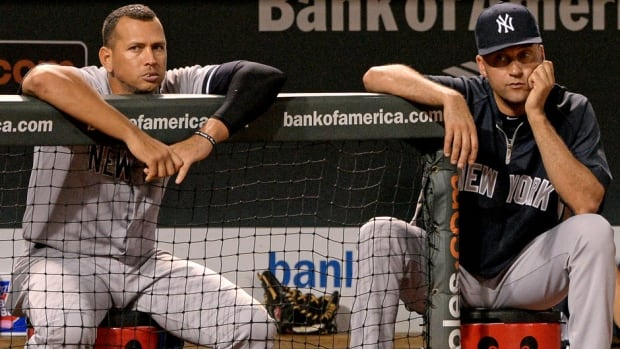 New York Yankees veteran Derek Jeter, right, says his club must move on without Alex Rodriguez, who is serving a season-long suspension.