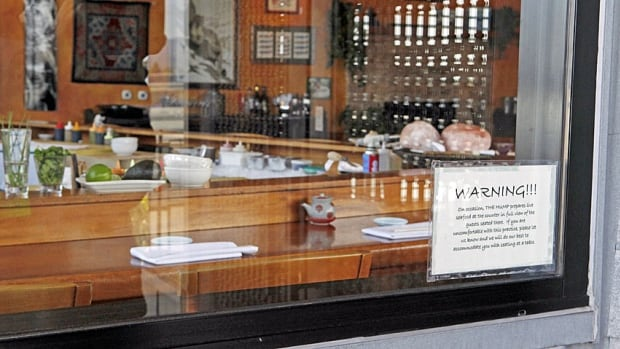 The Hump Restaurant is seen in Santa Monica, Calif., in 2010. A pair of sushi chefs pleaded guilty to serving endangered sei whale meat to undercover activists.