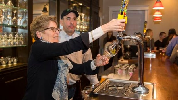 The premier went to Barrie's Flying Monkey's brewery the night before she fielded questions on The Beer Store on Reddit.