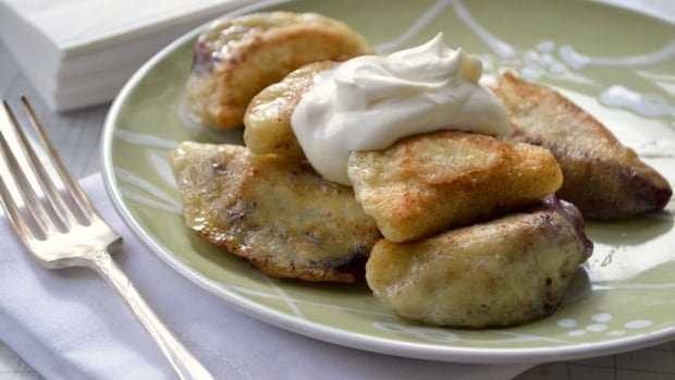 Blueberry perogies