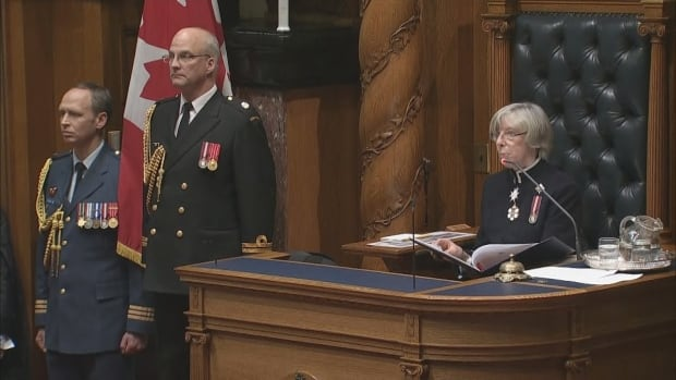Lt.-Gov. Judith Guichon reads the Liberals' throne speech