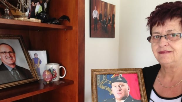Camille Legendre lost her husband and her son, Master Cpl. Stéphane Legendre who committed suicide after returning from Afghanistan, in the same year.